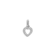 Letter Pendant with diamonds Heart, 18-karätigem Weißgold, 0.032 ct Diamant