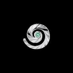 Impression Stud med smaragd, sterlingsølv