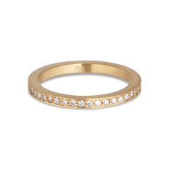 Alliansring, 18 karat guld, 0,005 karat diamanter