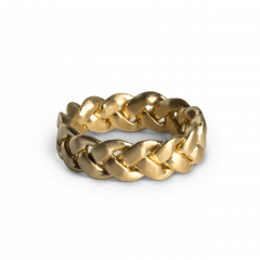Big Braided Ring, vergoldetem Sterlingsilber