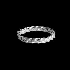 Small Braided Ring, sterlingsølv