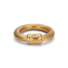 Big Salon Ring, forgylt sterlingsølv