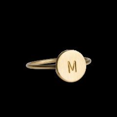 Lovetag Ring, forgylt sølv