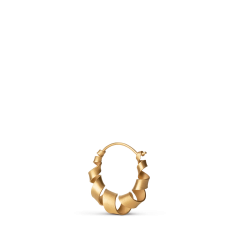 Small Curly Hoop, forgylt sterlingsølv