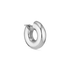 Shiny small Chunky Hoop, sølv