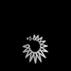Sun earring, sterling silver