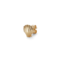Salon Scallop Front, Ohrstecker, vergoldet Sterling Silber