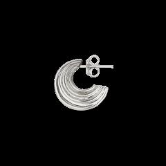 Small Sculpture Earring, Sterlingsilber