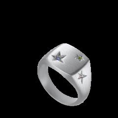 Star Signet ring, Sterlingsilber