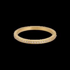 Small alliance ring, 18 Karat Gold, 0.005 ct Diamanten