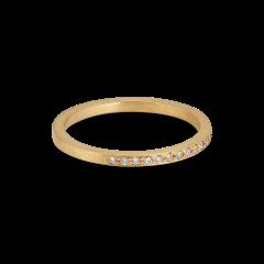 Small alliance ring, semi filled, 18 Karat Gold, 0,005 ct Diamanten