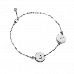 Lovetag Bracelet with 2 Lovetags, sterling silver