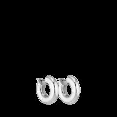 Chunky Hoop | Lille | Blank sølv