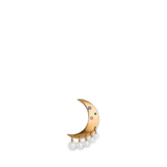 Pearl Moon Earring, gold-plated sterling silver