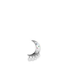 Pearl Moon Earring, sterling silver