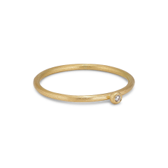 Princess ring, 18 Karat Gold, 0.01 ct Diamanten, Kugelhalterung