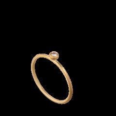 Princess ring, 18 Karat Gold, 0.05 ct Diamanten, Kugelhalterung