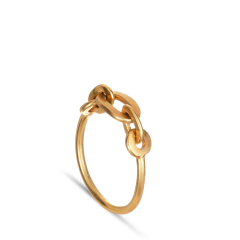 ROW   CHAIN RING   GOLD PLATED