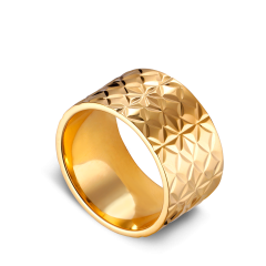 Big Reflection ring, gold-plated sterling silver