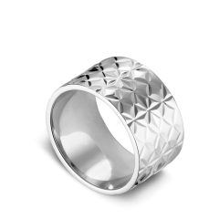 Big Reflection ring, sterling silver