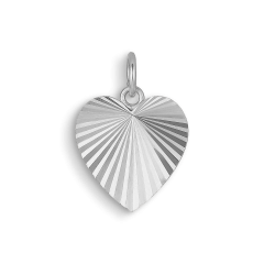 Reflection Heart pendant, sterlingsølv