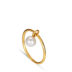 ROW | PERLE RING | FORGYLDT