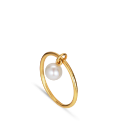 ROW   PEARL RING   GOLD PLATED