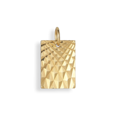 Reflection Square pendant, förgyllt sterlingsilver