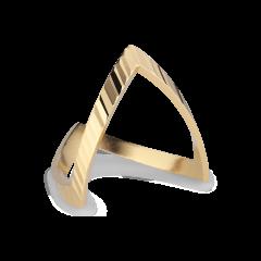 Reflection V ring, förgyllt sterlingsilver