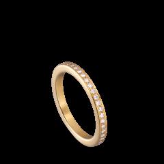 Big alliance ring, 18-carat gold, 0,01 ct diamonds