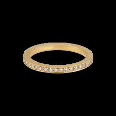 Big alliance ring, 18 karat guld, 0,01 ct diamter