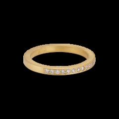 Big alliance ring, 18 Karat Gold, 0,01 ct Diamanten