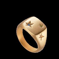 Star Signet ring   Forgyldt