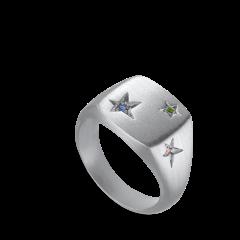 Star Signet Ring   Sølv